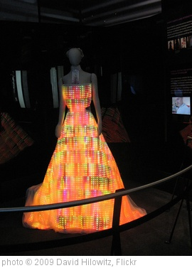 'electronic led light dress at the museum of science and industry in chicago' photo (c) 2009, David Hilowitz - license: http://creativecommons.org/licenses/by/2.0/
