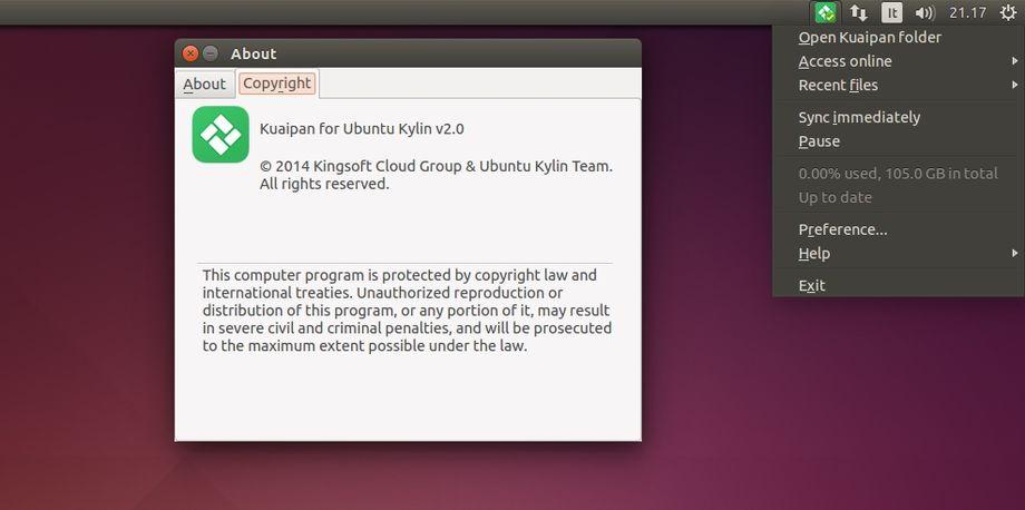 Kuaipan 2.0 in Ubuntu
