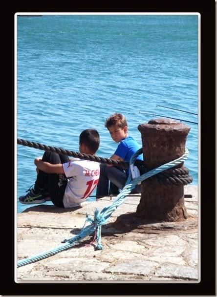 Paul V. y  Jacques B. en el puerto. Sète. LCL