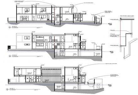 Planos y elevaciones recomendados casa f arquitexs for Cortes arquitectonicos