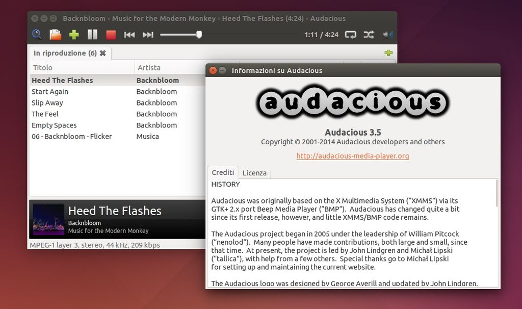 Audacious 3.5 in Ubuntu Linux