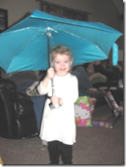 Christmas Holiday 12.23.12 Bellz loving Katies umbrella