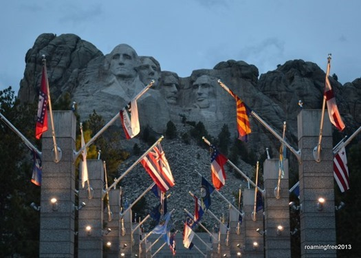 Twilight at Mt. Rushmore