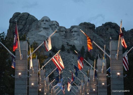 Twilight at Mt. Rushmore