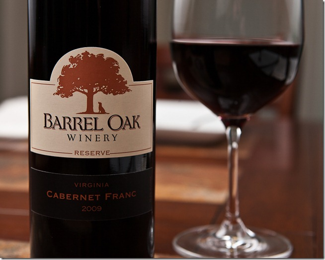 2009 Barrel Oak Winery Reserve Virginia Cabernet Franc