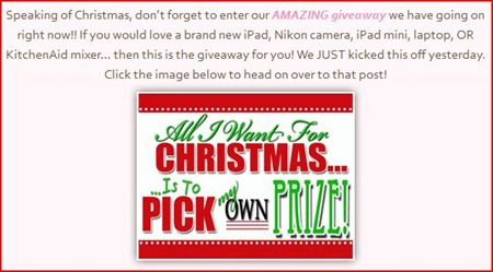 All I want for Christmas Giveaway