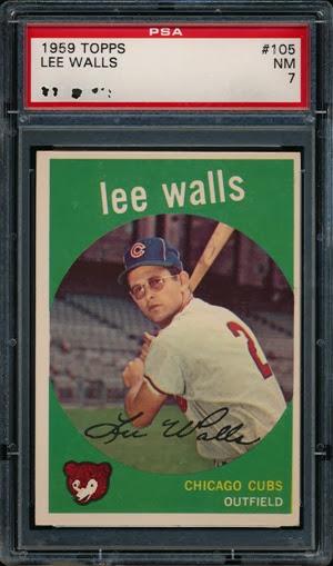 1959 Topps 105 Lee Walls no yellow wedge
