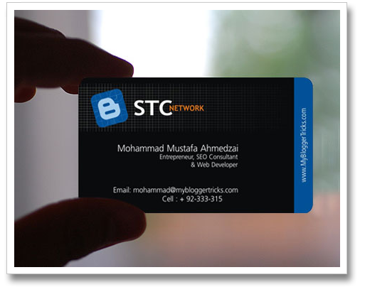 Mohammad's business card