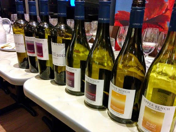 Upper Bench wines to be enjoyed by the BC Wine Appreciation Society