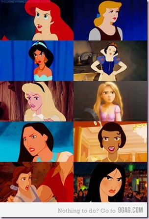 angry face disney princesses