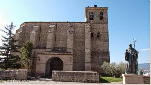 Villatuerta - Iglesia de la Asunción y estatua de San Veremundo