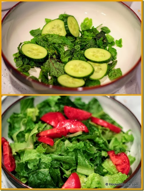 Fattoush Salad ingredients