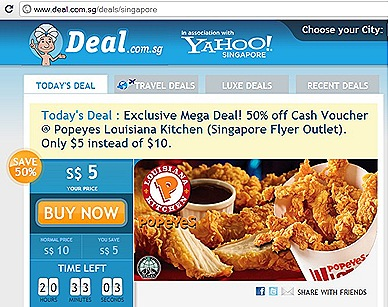 Deal.Com.Sg Popeye Chicken Offer TODAY ONLY