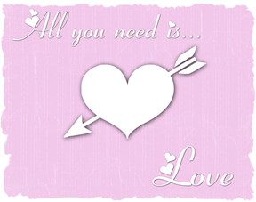 all you need is love pink