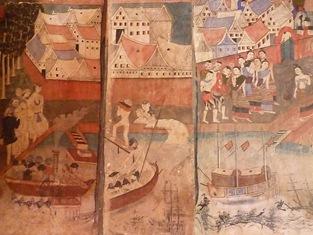 Murals inside Wat Phumin