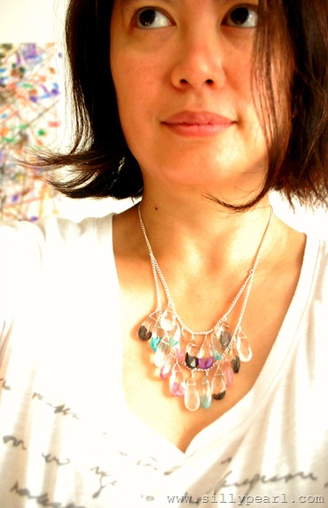 The Silly Pearl - Painted Glass Statement Necklace