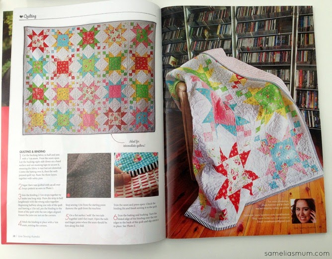 Sugar Stars Quilt - In the Magazine