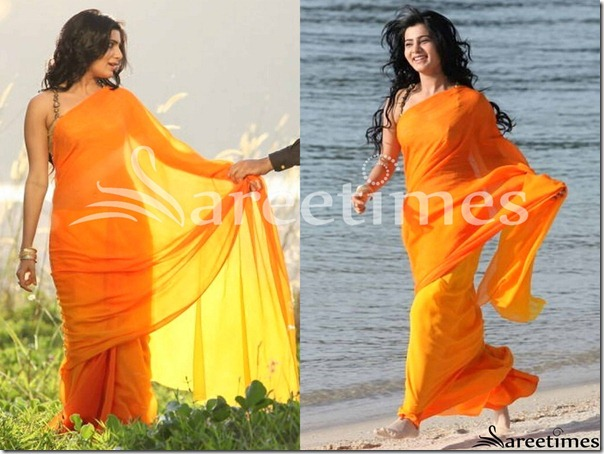 Samantha_Orange_Designer_saree