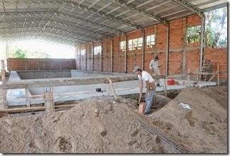 """El natatorio tiene 1600 metros cuadrados y está ubicado en el Barrio Las Quintas, dentro del Polideportivo """"Aldo Omar Ferreyra"""""""