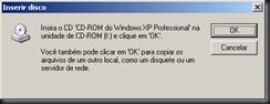 Windows XP : Atualizando Componentes do Windows : IIS :  FTP : Processo de Instalação : CD Windows XP