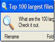 Un clic per scoprire quali sono i 100 file che occupano più spazio nell' hard disk del PC