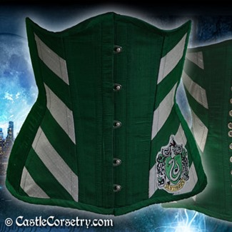 Castle Corsetry - Slytherin Long Line Corset