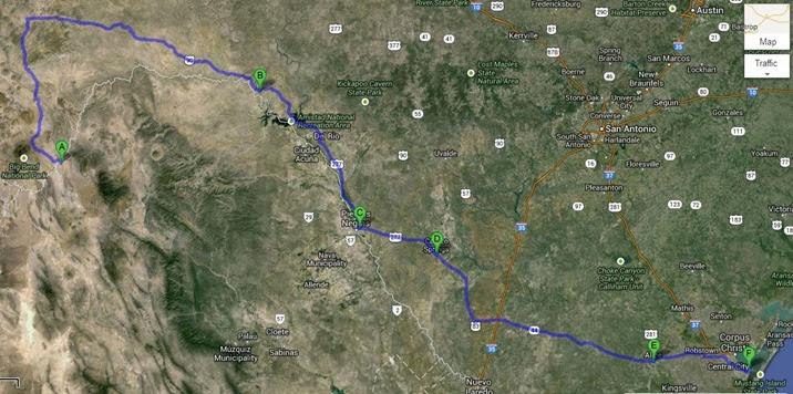 map across texas