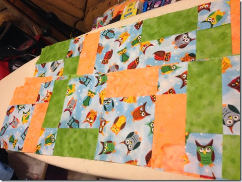 rows sewn