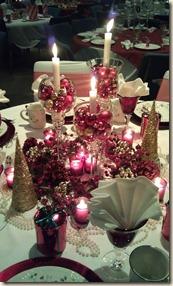 Red and gold tablescape 12.11.15