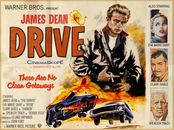 drive poster james dean retro