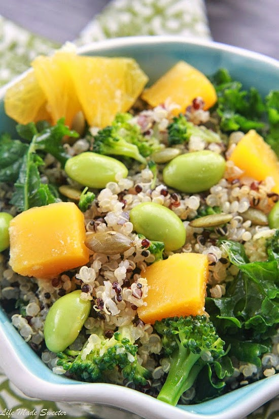 Fall Quinoa Salad with Roasted Butternut Squash and Wasabi Lime Dressing by @lifemadesweeter.jpg