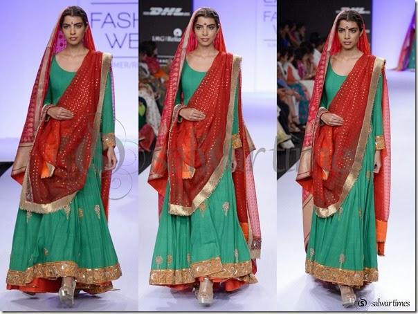 Gaurang_Shah_Green_Full_Sleeves_Kameez