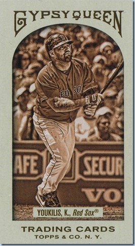 2011 Gypsy Queen Youkilis Sepia 74 of 99
