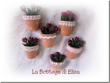 gruppo vasetti tulipani