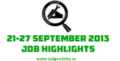 employment news 21-27 september 2013