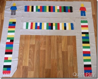 Quiet Play Lego mat in progress