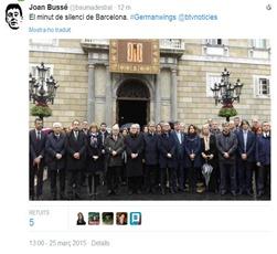 catastròfa aeriana de Germanwings minuta de silenci a Barcelona