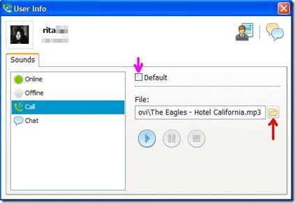 Skypeman cambiare suoneria contatto Skype