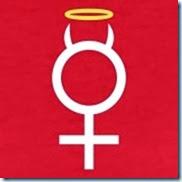 Rosso-simbolo-femminile-con-le-corna-e-Gloriosa-T-shirt