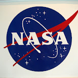 the NASA logo in Cape Canaveral, Florida, United States