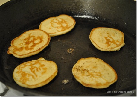 Blinis cooking