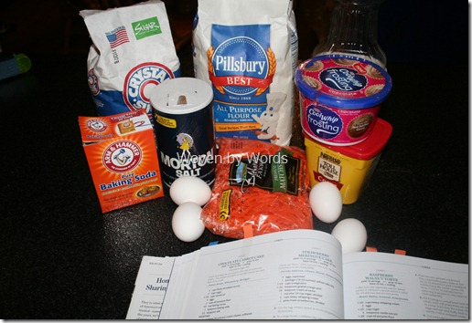 Chocolate Carrot Cake ingredients