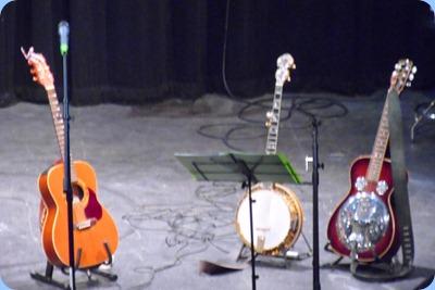 Tami and Paul's Guitars and banjo