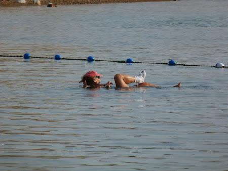 in gips la Marea Moarta