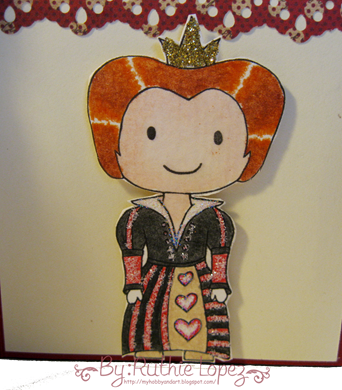 cascade card - castle card - queen of hearts Platypus Creek Digitals -5