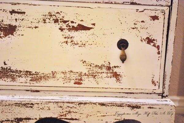 MMSMP in linen on dresser