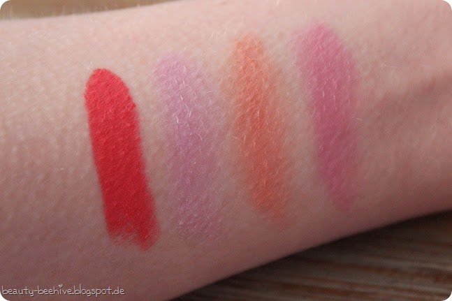 MAC is Beauty Call the Hairdresser Catty Diva-ish Make me gorgeous real redhead real doll reel sexy silly notice me pure vanity french twist lipstick lippenstift swatch swatches review test LE Limited 7
