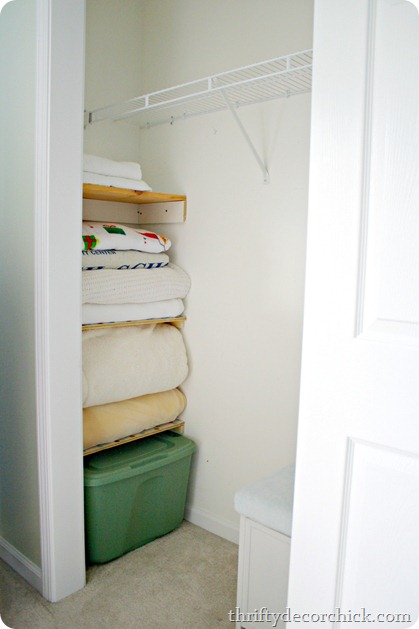 Using wasted space in closet