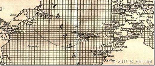 Hindenburg flight path - 7th North American flight
