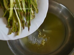 lcdr asparagi, olio e aglio